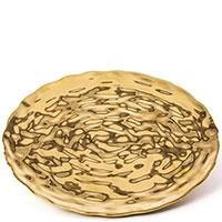 Золотистое блюдо Seletti Fingers круглой формы, фото