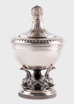 Серебреная сахарница Faberge с узором, фото
