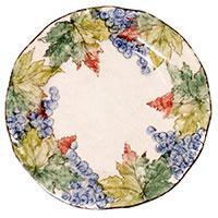 Тарелка обеденная Bizzirri с ручной росписью Виноград, фото