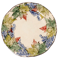 Набор обеденных тарелок Bizzirri Виноград, фото