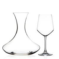 Набор из декантера и 6 бокалов для вина RCR Universum, фото