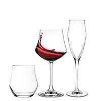 Набор бокалов и стаканов RCR Ego из хрустального стекла 18 предметов, фото