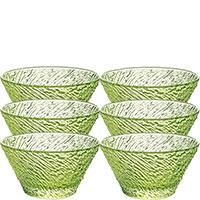 Набор салатников IVV Iroko из 6 штук салатового цвета, фото