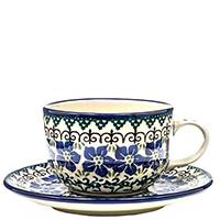 Чайная чашка с блюдцем Ceramika Artystyczna Фиалки, фото