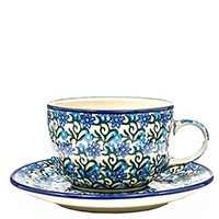 Чайная чашка с блюдцем Ceramika Artystyczna колокольчики, фото