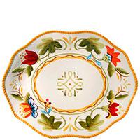 Большое керамическое блюдо Fitz and Floyd Тюльпаны 39x31см, фото
