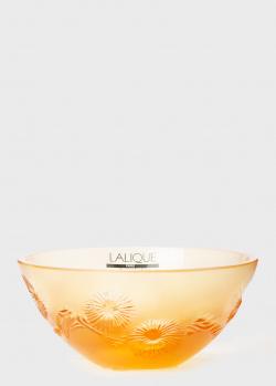 Хрустальная чаша Lalique China Mood Amber Small, фото
