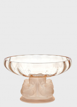 Ваза для фруктов Lalique Nogent с птицами на ножке, фото