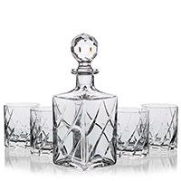 Набор для виски Faberge Capri штоф и 4 стакана, фото
