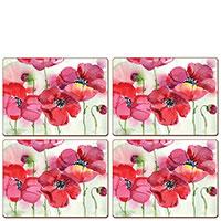Коврики для сервировки Cala Home Fresh Poppies 4шт, фото