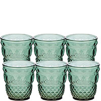 Набор стаканов IVV Ser Lapo зеленого цвета из 6 штук 280мл, фото