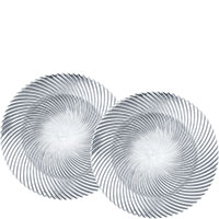 Набор тарелок Nachtmann Samba 32см из хрусталя, фото