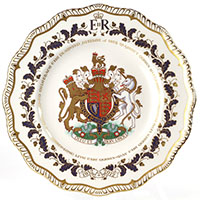 Фарфоровое блюдо Royal Crown Derby Diamond Jubilee , фото