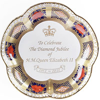 Фарфоровое блюдце Royal Crown Derby Japan, фото