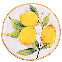 Десертная тарелка Bizzirri Лимоны, фото