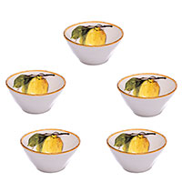 Набор из 6 пиал Bizzirri Лимоны 16см, фото