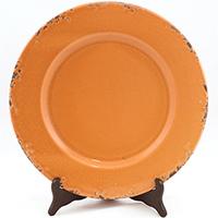 Керамическое блюдо Bizzirri Помпеи оранжевого цвета, фото