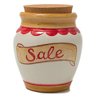 Емкость с крышкой Ceramiche Bravo Соль, фото