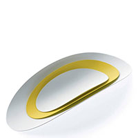 Набор из 3 подносов Alessi Ellipse белый с желтым, фото