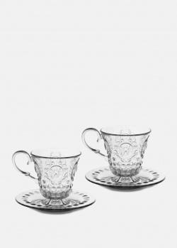 Кофейные чашки Baci Milano Cake с блюдцами 2шт, фото
