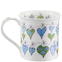 Чашка Dunoon Bute Heartstrings Blue 0,3 л, фото