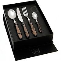 Набор столовых приборов на 6 персон Domus&Design Франция коричневого цвета, фото