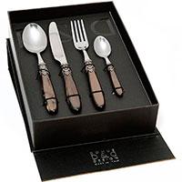 Набор столовых приборов на 6 персон Domus&Design Искья коричневого цвета, фото