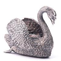 Паштетница Оникс ручной работы Лебедь, фото