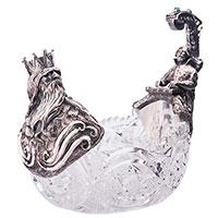 Ваза из серебра и хрусталя Оникс Серебряный Нептун, фото
