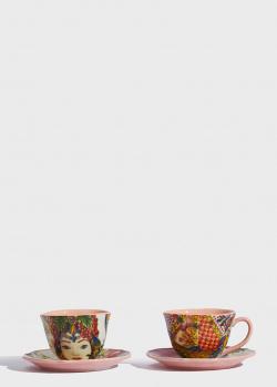 Чашки с блюдцами Baci Milano B&R Milano 2шт, фото