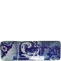 Блюдо прямоугольное Costa Nova Lisboa 36.8х12.2х2.8см синее, фото