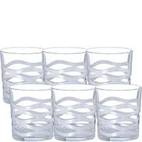 Набор для виски Egizia Onde Silver из 6 стаканов, фото
