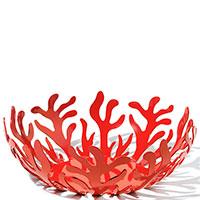 Фруктовница Alessi Mediterraneo красного цвета, фото