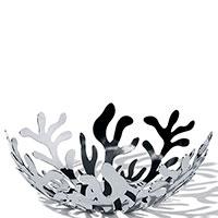 Фруктовница Alessi Mediterraneo серебристого цвета, фото