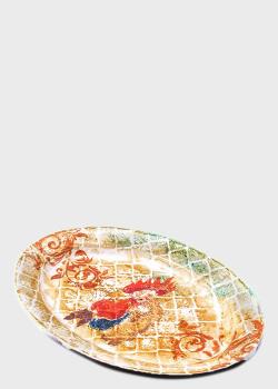 Блюдо Villa Grazia Кантри 40см с рисунком петуха, фото