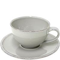 Набор из 6 чайных чашек с блюдцами Costa Nova Friso серого цвета, фото