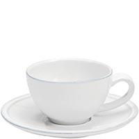 Набор из 6 кофейных чашек с блюдцами Costa Nova Friso белого цвета, фото