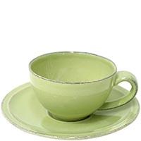 Набор из 6 кофейных чашек с блюдцами Costa Nova Friso зеленого цвета, фото
