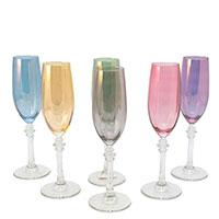 Набор разноцветных бокалов Villa Grazia для шампанского, фото
