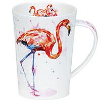 Кружка Dunoon Argyll с принтом фламинго 500мл , фото