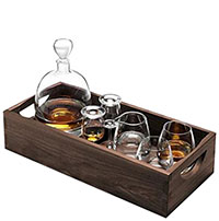 Набор для виски LSA Whisky на ореховом подносе, фото