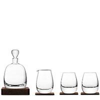 Набор для виски LSA Whisky на деревянной подставке из 5 предметов, фото