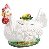 Супница Ceramiche Bravo Курица 1,25л из керамики, фото