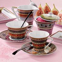 Чайный сервиз Deshoulieres Ispahan из лиможского фарфора на 6 персон, фото