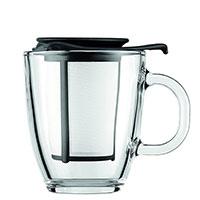Кружка Bodum Yo-Yo с чайным ситечком черного цвета 0,35 л, фото