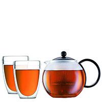 Чайный набор Bodum Assam с заварочным чайником и 2 стаканами, фото