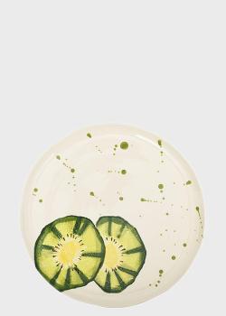 Тарелка Villa Grazia Фруктовый коктейль 29см с рисунком киви, фото
