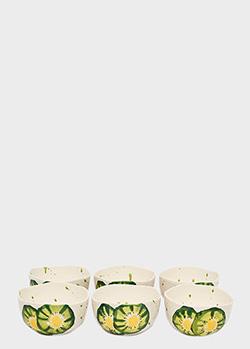 Набор пиал Villa Grazia Фруктовый коктейль 16,5см с рисунком киви 6шт, фото