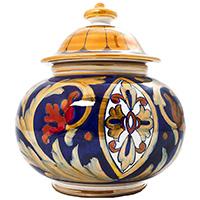 Емкость для хранения L'Antica Deruta Lustro Antico округлой формы, фото
