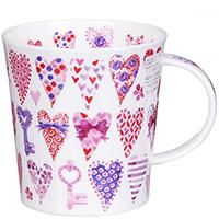 Чашка Dunoon Lomond Hearts Pink 0,32 л, фото